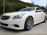 2008 G37 Coupe Forgestar 20 inch wheels